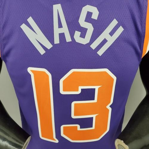 NASH#13 Phoenix Suns Purple NBA Jersey S-XXL