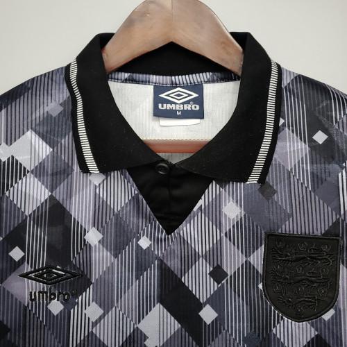1990 England Retro black away fans version jersey