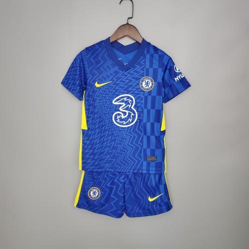 21-22 Chelsea home Blue kids kit