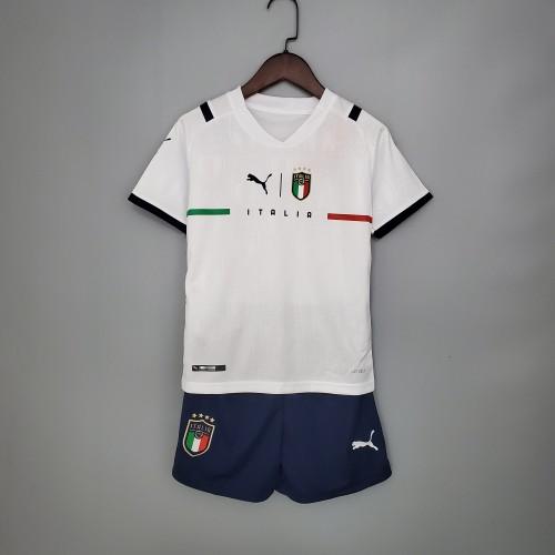 2021 Italy Away White Kid Kit