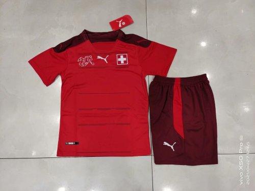 2020 Switzerland Home Red Kid Kit