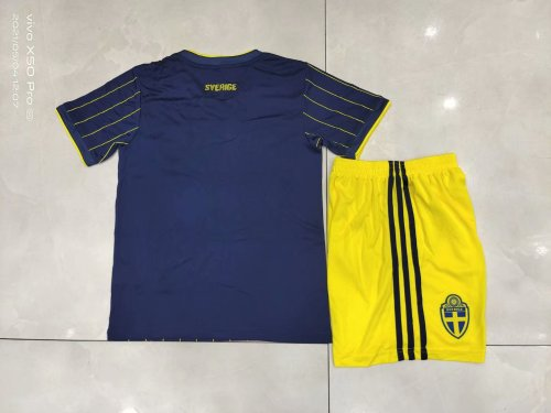 2020 Sweden Away Blue Kid Kit