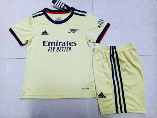21-22 Arsenal Away Yellow Kid Kit