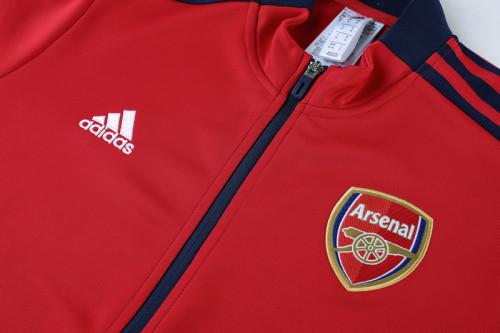 21-22 Arsenal Red Jacket Suit