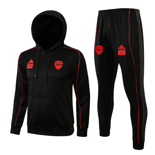 21-22 Arsenal Black Hoodie Suit