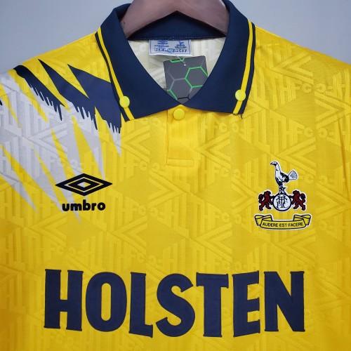 92-94 Tottenham Away Yellow Retro Jersey