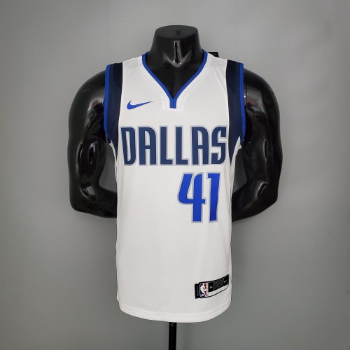 NOWITZKI#41 Mavericks home White NBA Jersey