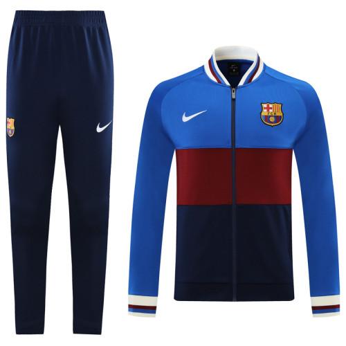 21-22 Barcelona Blue-Red Jacket Suit
