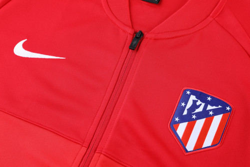 21-22 Atletico Madrid Red Jacket Suit