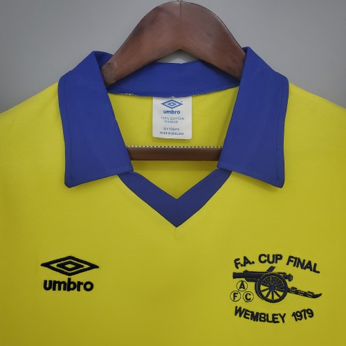 71-79 Arsenal Away Yellow Retro Jersey