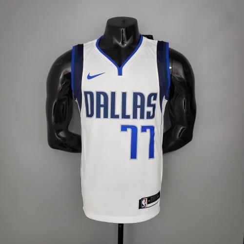 DONCIC#77 Mavericks home White NBA Jersey
