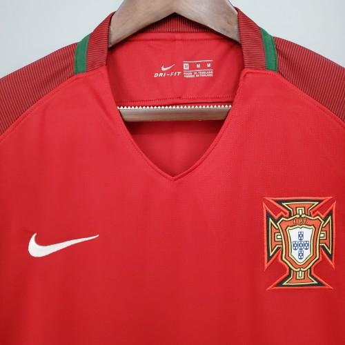 2018 Portugal Home Retro Jersey