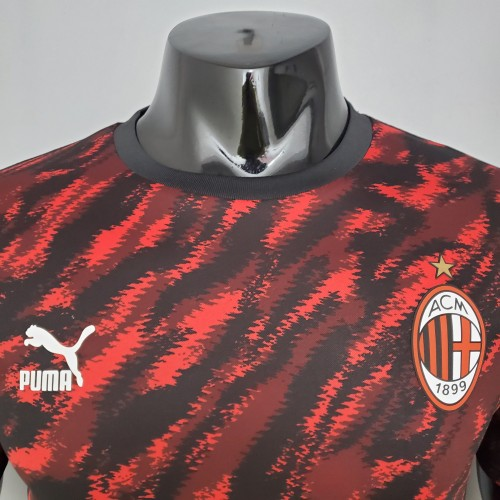 21-22 AC Milan Red and black camouflage Player Version Jersey