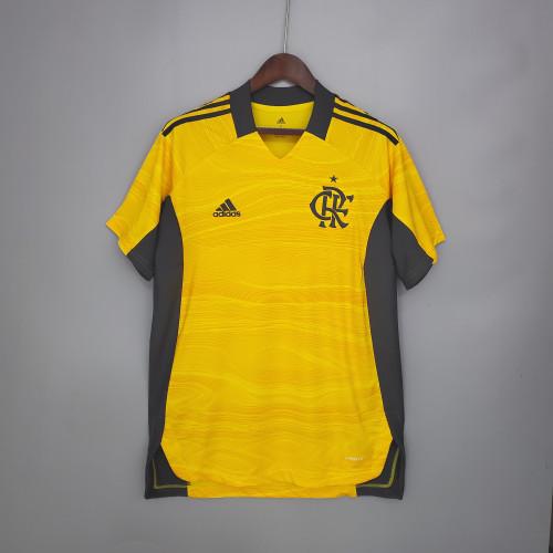 21-21 Flamengo Yellow Goalkeeper Fans Jersey