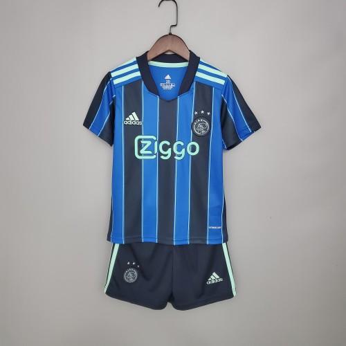 21-22 Ajax Away Blue Kid Kit