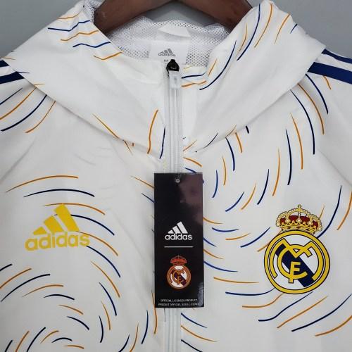 21-22 Real Madrid White Windbreaker