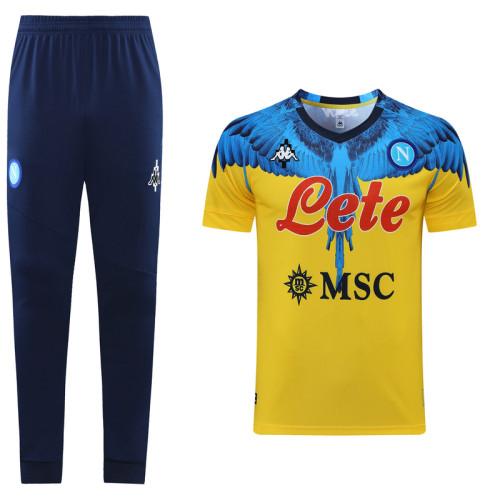 21-22 Napoli Yellow Short sleeve training Suit(long pants)