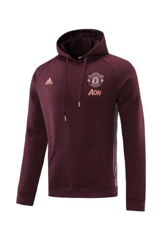21-22 Manchester United purplish Red Hoodie