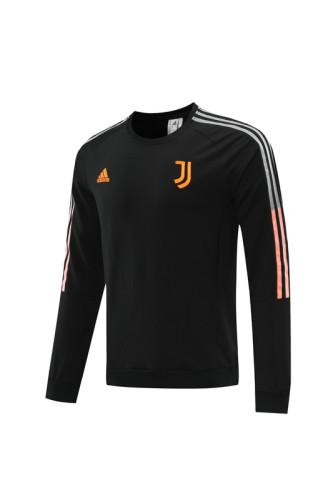 21-22 Juventus Black round neck Sweater