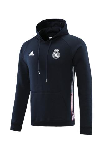 21-22 Real Madrid Dark Blue Hoodie