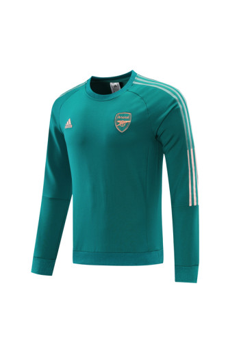 21-22 Arsenal Green round neck Sweater