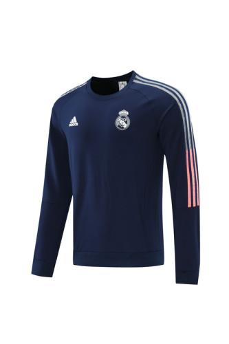 21-22 Real Madrid Dark Blue round neck Sweater
