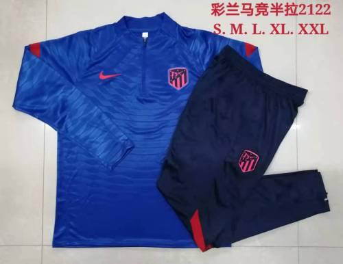 21-22 Atletico Madrid Blue Training suit