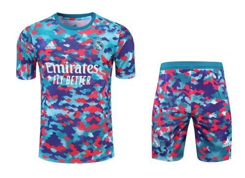 21-22 Real Madrid camouflage Short Sleeve Suit(With short)
