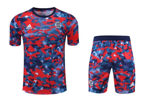 21-22 Bayern Munich camouflage Short Sleeve Suit(With short)