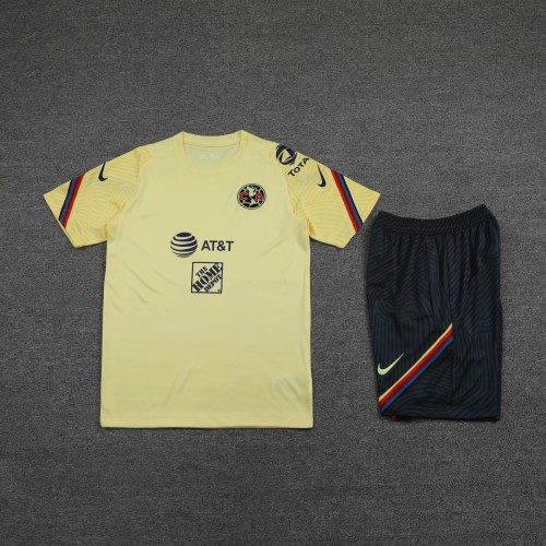 21-22 America Yellow short sleeve Suit(With short)