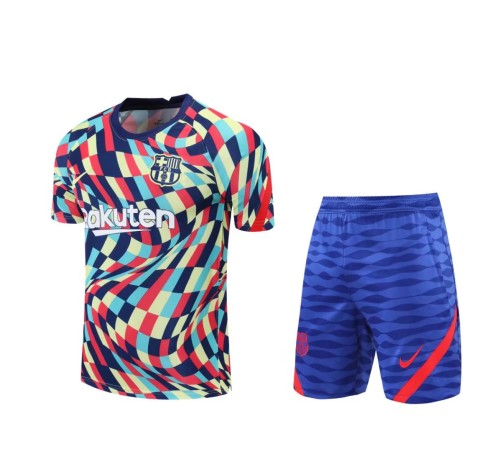 21-22 Barcelona colourful  Short Sleeve Suit(With short)