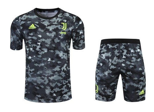 21-22 Juventus camouflage Short Sleeve Suit(With short)