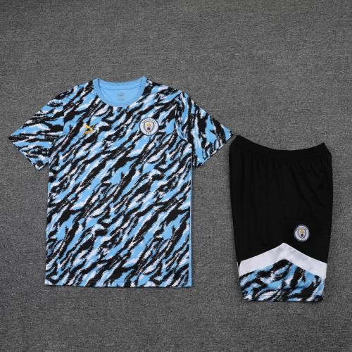 21-22 Man City camouflage Short Sleeve Suit(With short)