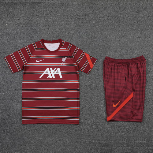 21-22 Liverpool Red Short Sleeve Suit(With short)