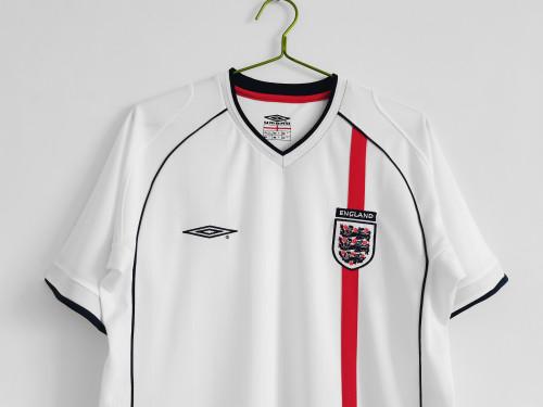 01-03  England Home White Retro Jersey