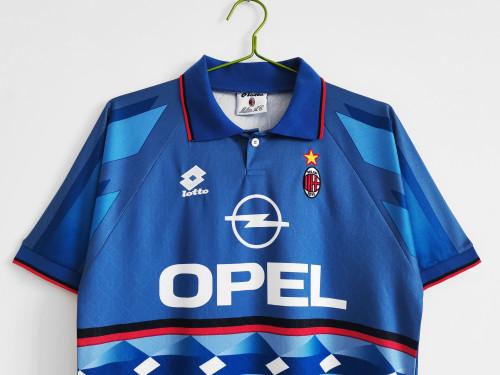 95-96 AC Milan Away Blue Retro Jersey