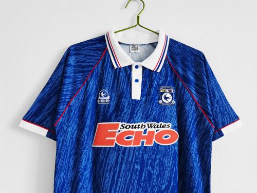Cardiff City Home Blue Retro Jersey