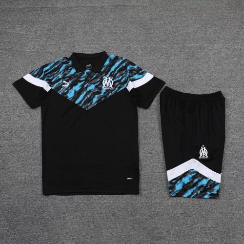 21-22 Marseille Balck Polo Short Sleeve Suit