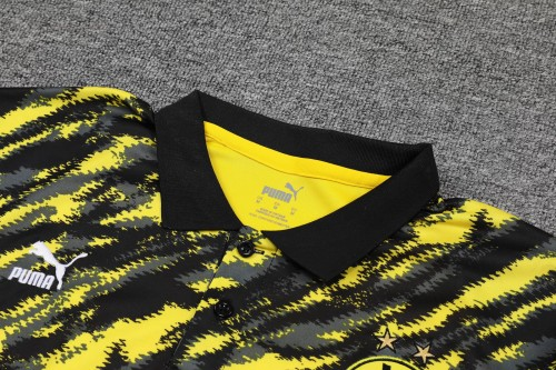 21-22 Dortmund Yellow and Black Polo Short Sleeve Suit