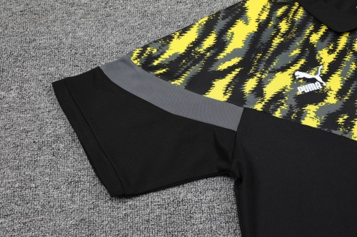 21-22 Dortmund Black Polo Short Sleeve Suit