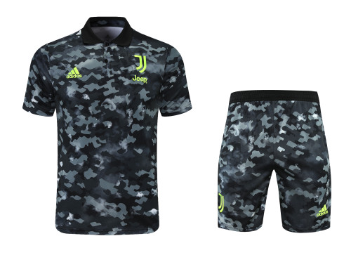 21-22 Juventus camouflage Polo Short Sleeve Suit