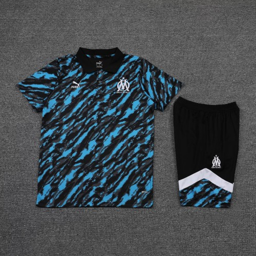 21-22 Marseille camouflage Polo Short Sleeve Suit