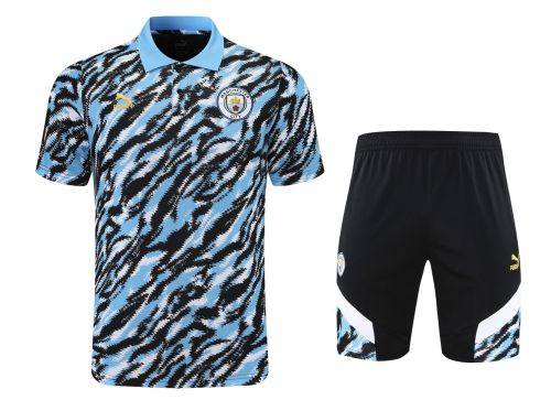 21-22 Man City camouflage Polo Short Sleeve Suit