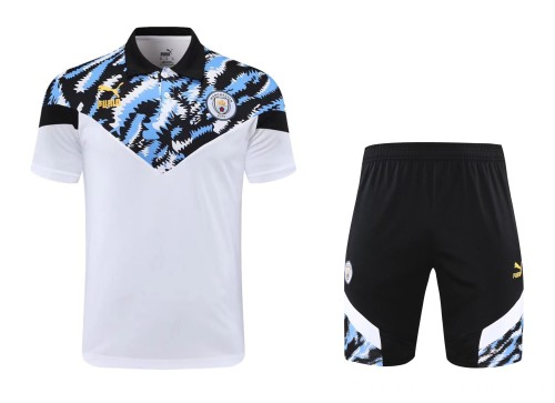 21-22 Man City Polo Short Sleeve Suit