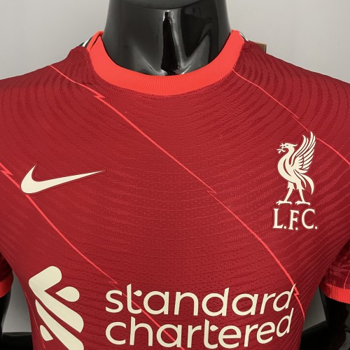 21-22 Liverpool Home Red Player Jersey
