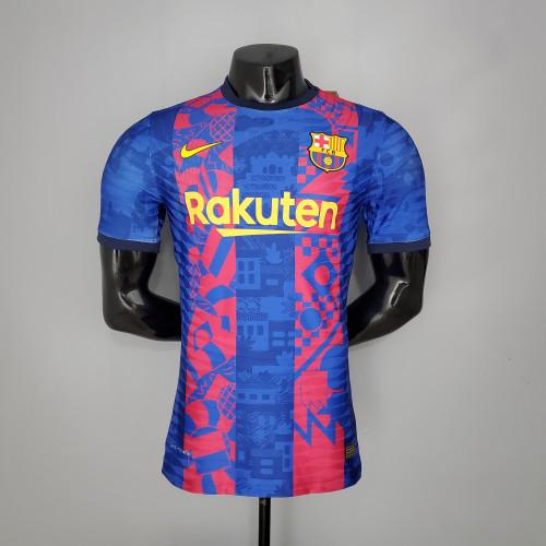 21-22 Barcelona Third Player  Jersey