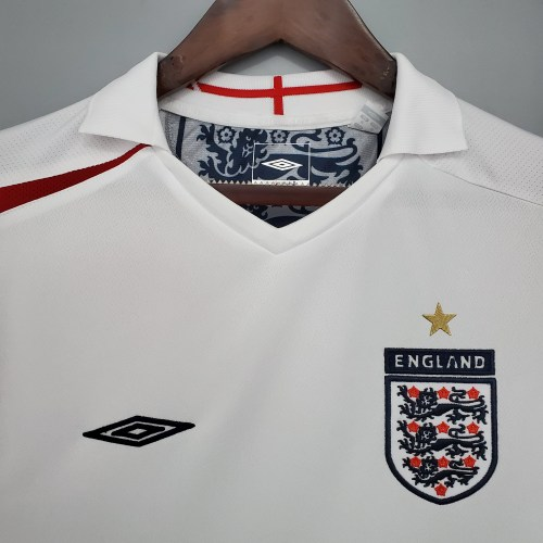2006  England Home White Retro Jersey