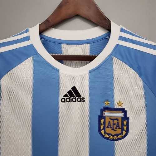 2010 World Cup Argentina Home Retro Jersey