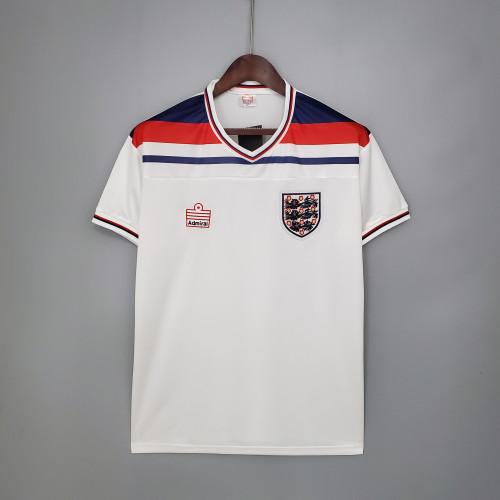 1982 England Home White Retro Jersey