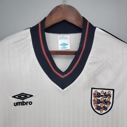 84-87 England Home White Retro Jersey